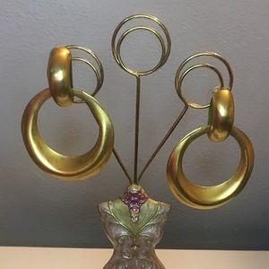 Jewelry - Gold-tone Hoop Drop Earrings